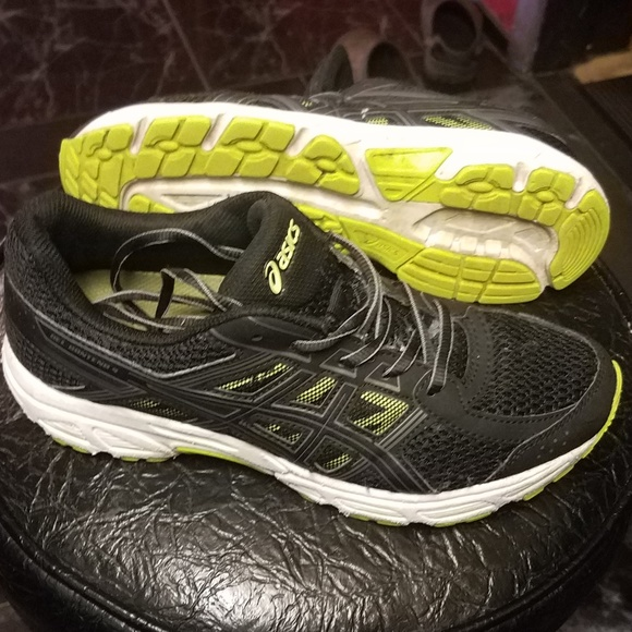 Asics Other - Asics Running shoes C707N Size 6.5 Black/Green